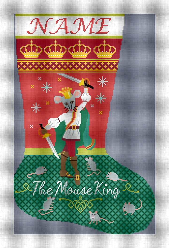 Nutcracker Mouse King Needlepoint Stocking Canvas