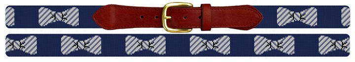 Seersucker Bow Ties Needlepoint Belt