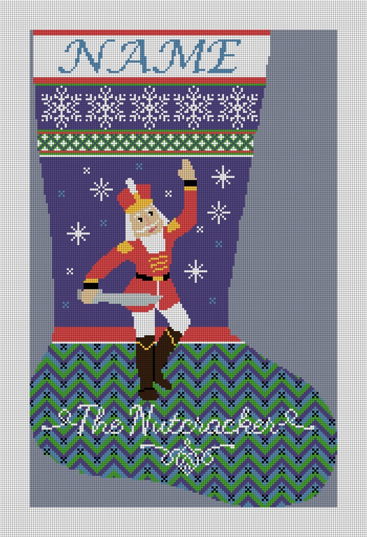 Nutcracker Prince Needlepoint Stocking Canvas