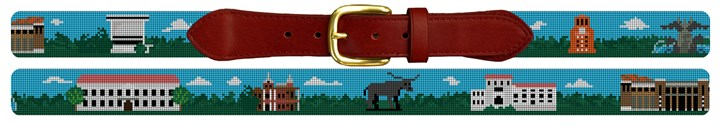 University of Texas Campus Needlepoint Belt