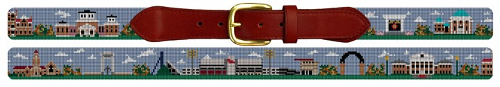 Ole Miss Campus Needlepoint Belt