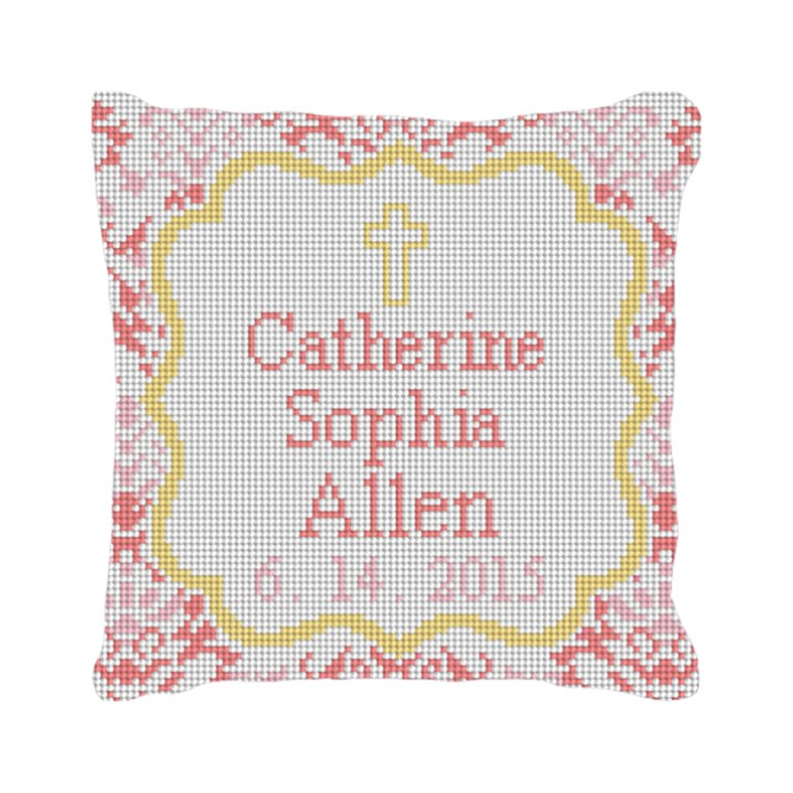 Christening Love Needlepoint Pillow