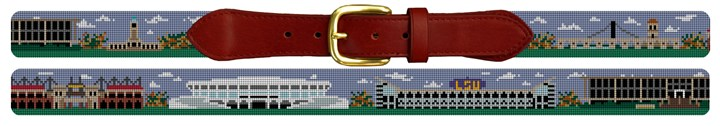 LSU Tigers Sports Needlepoint Belt