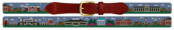 UNC North Carolina Campus Needlepoint Belt