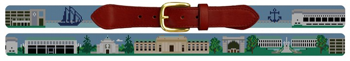 Naval Academy Campus Needlepoint Belt