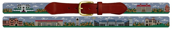 University of Kansas Campus Needlepoint Belt