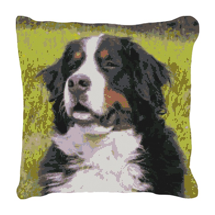 Bernese Mountain Dog Needlepoint Pillow