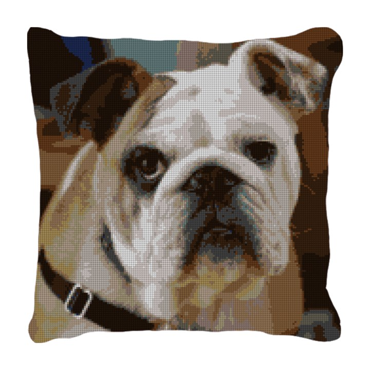 Bulldog Needlepoint Pillow