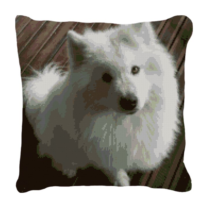 Samoyed Needlepoint Pillow