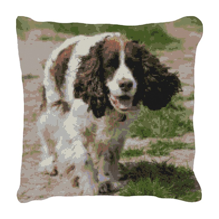 English Springer Spaniel Needlepoint Pillow