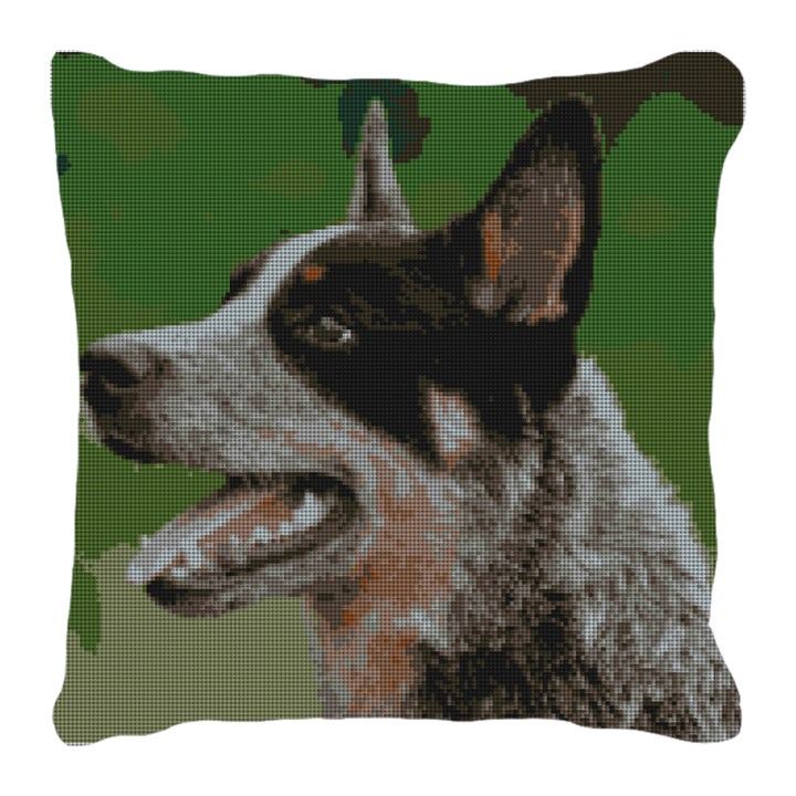 Blue Heeler Needlepoint Pillow