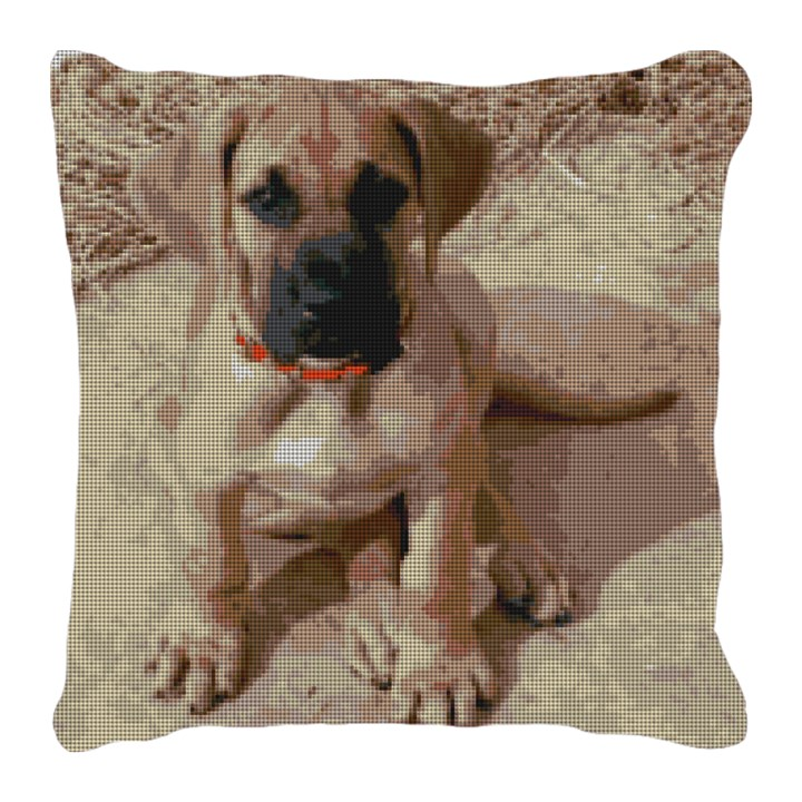Great Dane Pup Needlepoint Pillow