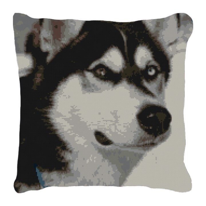 Siberian Husky Needlepoint Pillow