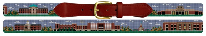 SMU Campus Needlepoint Belt