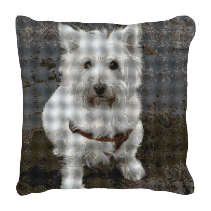 West Highland Terrier Needlepoint Pillow
