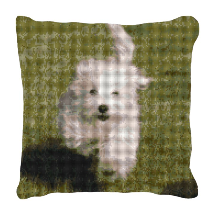 Bichon Frise Needlepoint Pillow