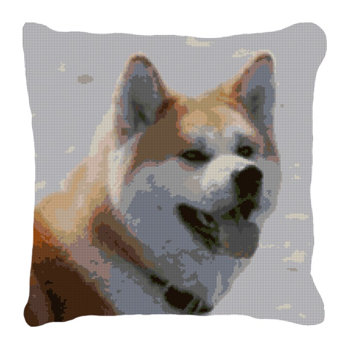 Akita Dog Needlepoint Pillow