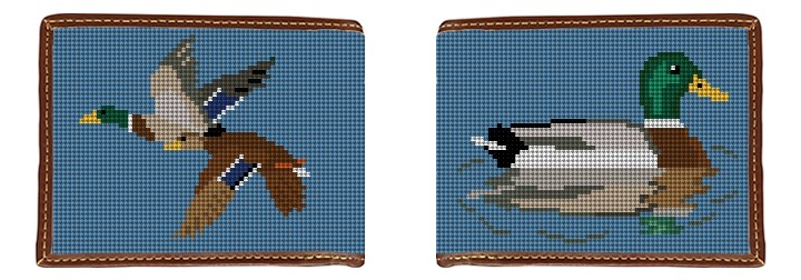Mallard Needlepoint Wallet