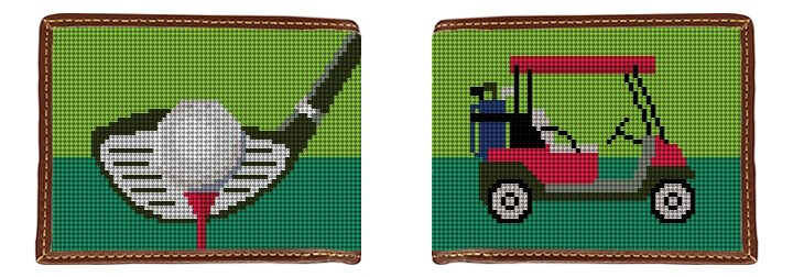 Golf Needlepoint Wallet