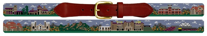 Colorado Boulder Campus Needlepoint Belt