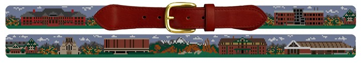 Colorado College Campus Needlepoint Belt