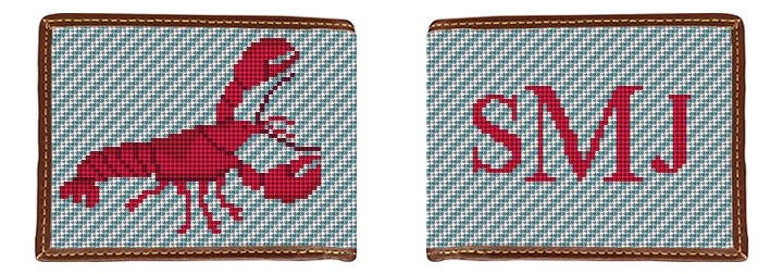 Lobster Needlepoint Wallet