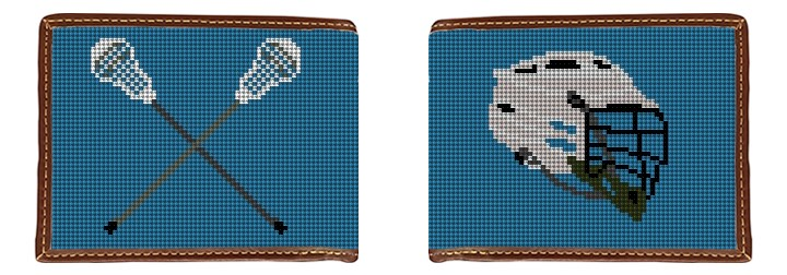 Lacrosse Needlepoint Wallet