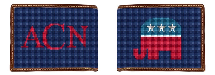 Republican Needlepoint Wallet