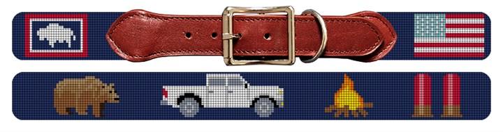 Life Treasures Custom Needlepoint Dog Collar