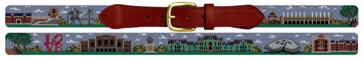 University of Pennsylvania Campus Needlepoint Belt