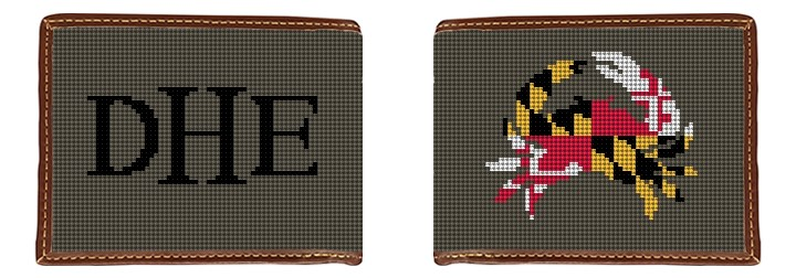 Maryland Crab Flag Needlepoint Wallet