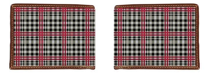 Classic Plaid Needlepoint Wallet