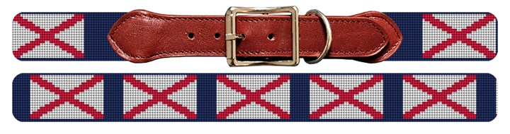 Alabama Flag Needlepoint Dog Collar