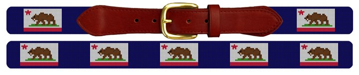 California Flag Needlepoint Belt