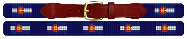 Colorado Flag Needlepoint Belt