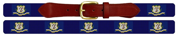 Connecticut Flag Needlepoint Belt