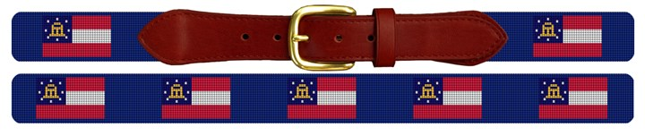 Georgia Flag Needlepoint Belt