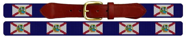 Florida Flag Needlepoint Belt