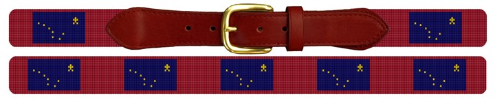 Alaska Flag Needlepoint Belt