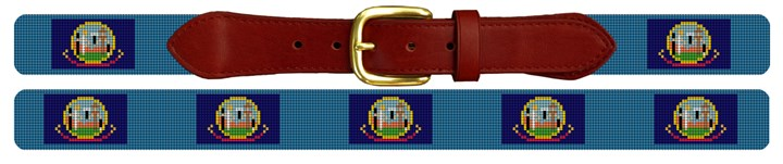 Idaho Flag Needlepoint Belt