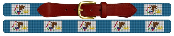 Illinois Flag Needlepoint Belt