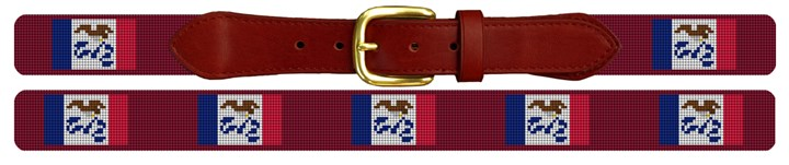 Iowa Flag Needlepoint Belt