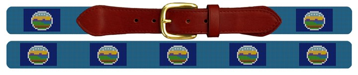 Kansas Flag Needlepoint Belt