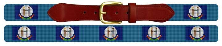Kentucky Flag Needlepoint Belt