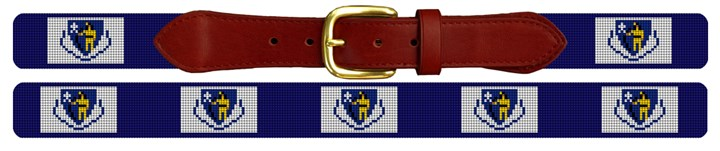 Massachusetts Flag Needlepoint Belt