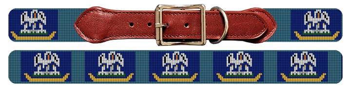 Louisiana Flag Needlepoint Dog Collar