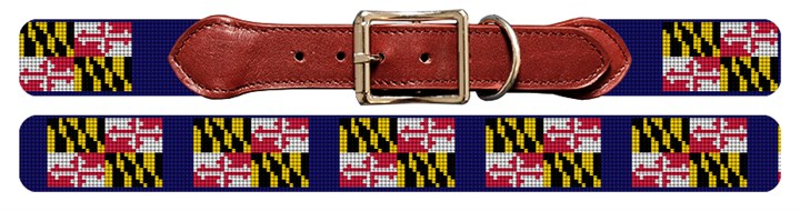 Maryland Flag Needlepoint Dog Collar