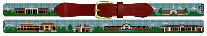 High Point University Campus Needlepoint Belt