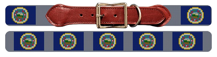 Minnesota Flag Needlepoint Dog Collar
