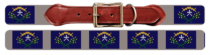 Nevada Flag Needlepoint Dog Collar
